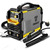 DEKOPRO 110/220V MMA Welder,160A ARC Welder Machine IGBT Digital Display LCD Hot Start Welder with Electrode Holder,Work Clamp, Input Power Adapter Cable and Brush