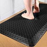"Anti Fatigue Floor Mat, Kitchen Mats, Standing Mat for Standing Desk Kitchen & Garage, Ergonomic Comfort Office Desk Rugs Floor Pad with Durable/Stain Resistant/Non-Slip Bottom (20""X32"")-Black"