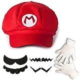 Katara 1659 Kit Costume de Super Mario Bros - Casquette de Mario, Gants...