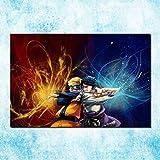 DIY Pintar por números Naruto Shippuden Transferencia de Calor Anime Juego Arte Pintura animales de pintura digital Adecuado para la decoración de la sala de estar para niños,50x70cm(Sin marco)