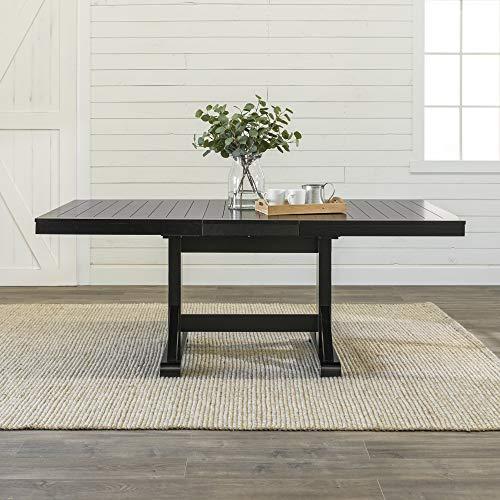 Walker Edison Furniture Dining Table, 60'-77', Black