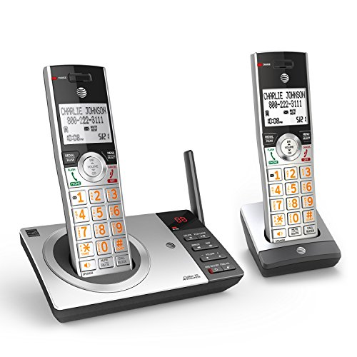 AT&T CL82207 DECT 6.0 2-Handset Cordless Phone for...