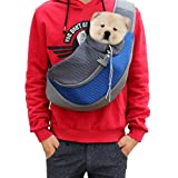 Pet Sling Carrier- Soft Mesh Hands Free Sling Bag Head Out for Puppy Cat Rabbit Guinea Pig- Single Shoulder Carrier Pet Travel Carrier Pouch- for Pets up to 6-12lbs