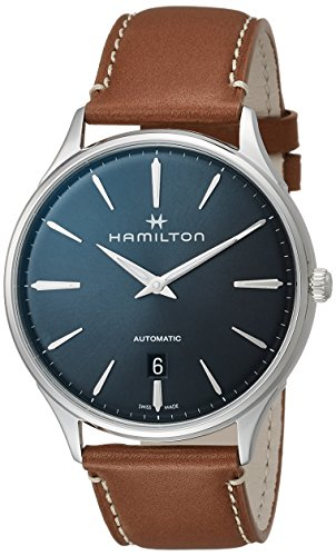 Hamilton Herren-Armbanduhr 40mm Armband Leder Braun Automatik Analog H38525541