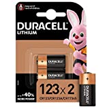 Duracell 123 Pile lithium haute puissance 3V, lot de 2 (CR123 / CR123A /...