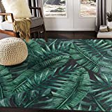 ALAZA Watercolor Tropical Palm Tree Leaves Area Rug Rugs for Living Room Bedroom 7' x 5'