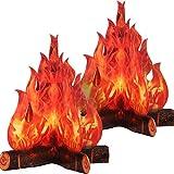 3D Torche de Flamme au Centre de Feu de Camp en Carton Décoratif Feu...