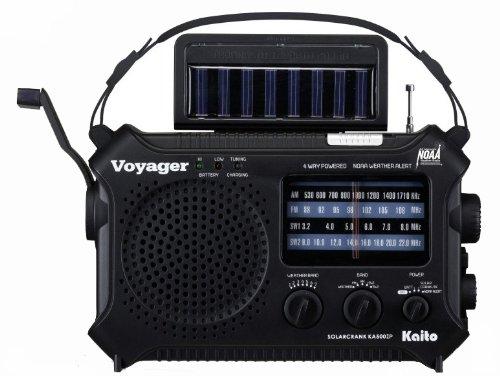 Kaito KA500IP-BLK Voyager Solar/Dynamo AM/FM/SW NOAA Weather...