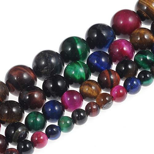 Natural Stone Beads 8mm Multi Tiger Eye Beads Gemstone Round...