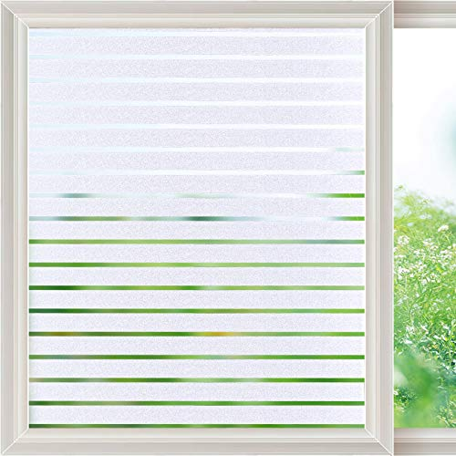 Viseeko Frosted Window Film Static Cling Glass Film Decorative Frosted...