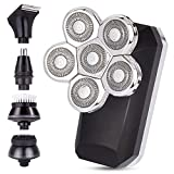 Electric Shavers for Men, Bald Head Shaver 5-in-1 Floating Rotary...