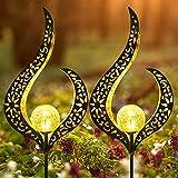 LUOWAN Lampes Solaires De Jardin Avec Solar Flame Lights Lot De 2 Deco Jardin...