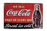Karmour Accessories Plaque Murale en étain Style Vintage Motif Coquillage Guinness Marvel Esso Pub rétro, Métal, Coca Cola #3, 20x30cm