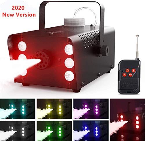 Nebelmaschine, Theefun 7 farbige 6 LEDs Nebelmaschine Tragbare Rauchmaschine mit Kabellos Fernbedienung für Halloween, Party, Weihnachtsgeschenke, Hochzeit