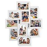 SONGMICS Cadre Photo, Pêle-mêle Mural, Capacité 10 Photos de 10 x 15 cm,...