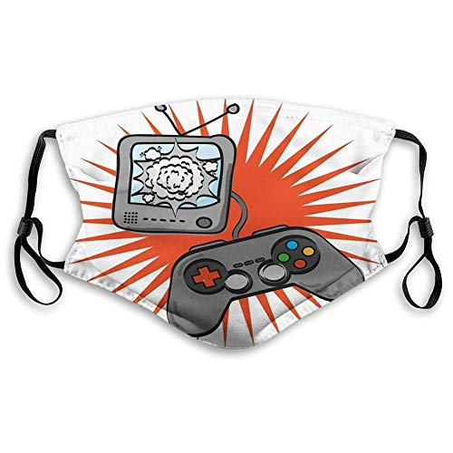 Comfortable Printed mask,Games, Kids Video Games Themed Design in Retro Style Gamepad Console...