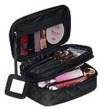 Trousse à Maquillage Femme Voyage,Trousse de Toilette Portable (9 * 5.5 * 4 inch), 2 Couche Grande...