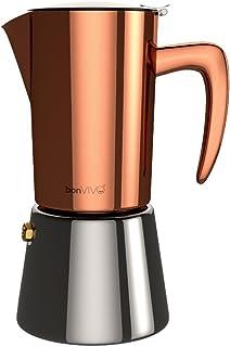 bonVIVO Intenca Stovetop Espresso Maker – Luxurious Italian Coffee Machine Maker,..