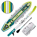 BOTE Flood Aero Inflatable Stand Up Paddle Board, SUP with Accessories | Pump, Paddle, Fin, Travel Bag, Full Trax