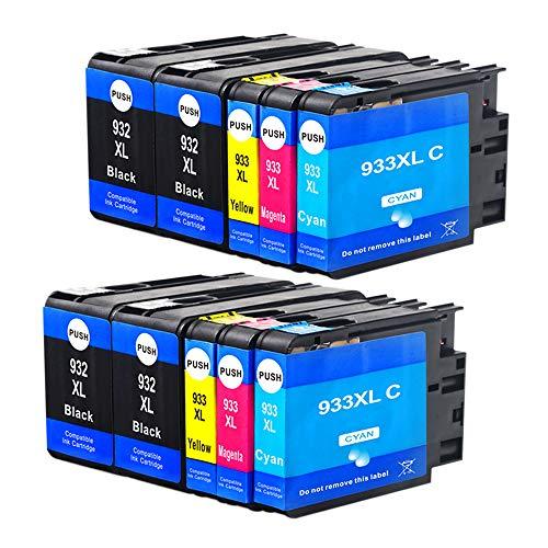 Jagute 932XL 933XL Compatibile Cartucce d'inchiostro Sostituzione per Hp932xl 933 xl con Stampante...