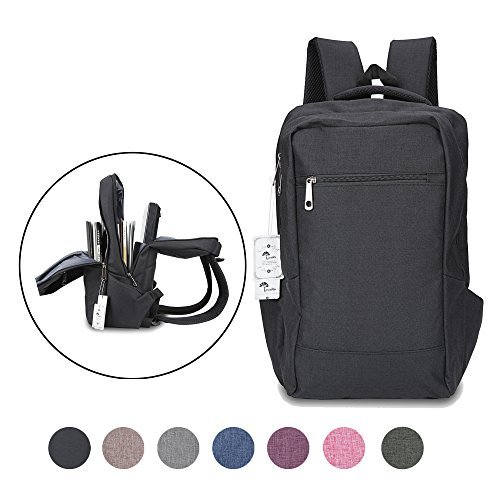 Laptop Backpack,Winblo 15 15.6 Inch College Backpacks Lightweight Travel Daypack - Black