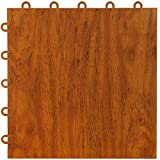 Greatmats Max Tile Laminate Wood Grain Floor Mats Interlocking Mat Tile Flooring Mat Tiles for Home Office Playroom Basement Trade Shows Garage Dance, 20 Pack (Cherry)