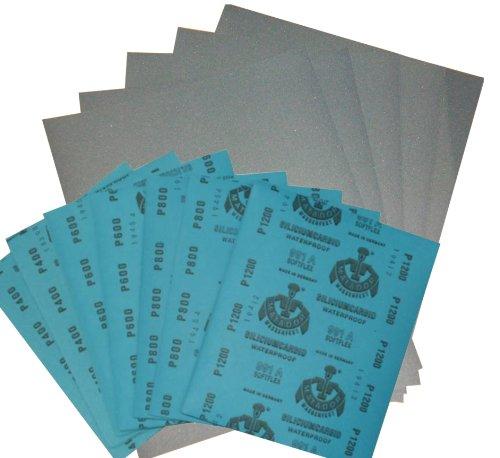 1 Set Wasserschleifpapier 6 Blatt - Je 1 Blatt 240 360 400 600 800 1000 Nassschleifpapier Grob