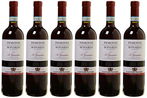 Cantine Povero - Piemonte Bonarda Frizzante 'La Gavardina' - 6 Bottiglie da 0,75 lt.