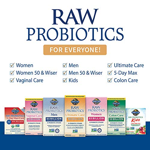Probiotics For Women, Probiotics For Men And Adults: Raw Probiotics Ultimate Care 100 Billion CFU Shelf Stable Probiotic Supplement, Garden of Life Daily Probiotic, Digestive Enzymes, 30 Capsules 8