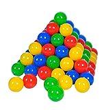 Knorrtoys 56789 - 100 Bälle in knalligem Blau, Rot, Gelb und Grün ohne gefährliche Weichmacher - ca. Ø 6 cm - TÜV Zertifiziert