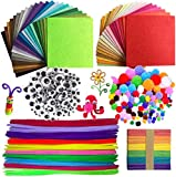 Namgiy 590pcs DIY Crafts Set de Fils Chenille/Cure Pipes, Pompons, Googly Yeux,...