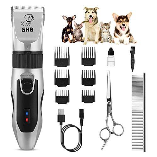 GHB Cortapelos Perros Maquinillas Eléctricas para Mascotas...