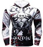 Cody Lundin Hommes Sweat à Capuche Sport Bande dessinée Sweatshirt à Capuche Homme...