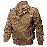 KEERADS Hommes Blouson Veste Manteau Armée Militaire Vêtements Chaud Outwear Coat(FR-56/L,Kaki)