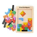 Puzzle en bois Puzzle Tetris Tangram Pädagigisches jouets pour les enfants...