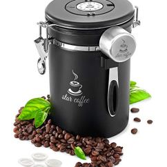 Star Kaffeedose, luftdicht, Kaffee-Vorratsdose – Edelstahl