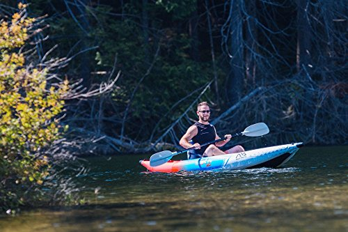 Kayaking on the wild river