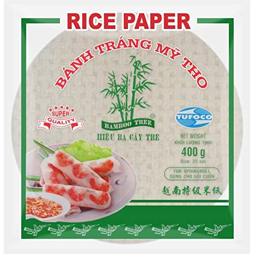 Bamboo Tree Papel de arroz Rollo de primavera Rollo de verano - 22 cm, 400g