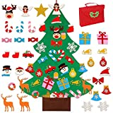 OurWarm DIY Felt Christmas Tree for Kids, 3ft Christmas Decorations for Toddlers with 30pcs Glitter Ornaments, Felt Xmas Tree for Kids Christmas Door Wall Hanging Decorations