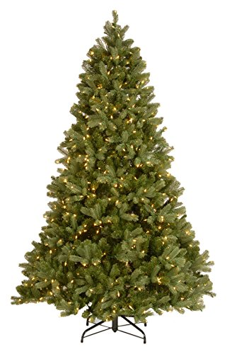 National Tree Company 'Feel Real' Pre-lit Artificial Christmas Tree | Includes Pre-strung Multi-Color LED Lights, PowerConnect and Stand | Downswept Douglas Fir - 7.5 ft
