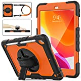 iPad 8th/7th Generation Case, New iPad 10.2 Case [Full-body] & [Shockproof] Armor Protective Case...