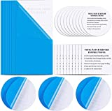 TCIOD 30 Pieces Self-Adhesive PVC Repair Patch Repair, Vinyl Pool Patch Repair Kit Plastic Repair Patches Kit for Pool Patches, Swimming Pools Inflatable Boat Products (Blue)