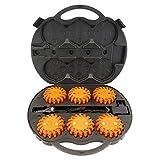 PrimeMatik - Maleta de 6 balizas de señalización LED color naranja IP67