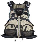 Stohlquist Fisherman Personal Floatation Device, Khaki, Large/X-Large