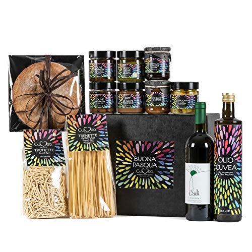 Cesto Pasquale Vegan Gourmet - Cesti pasquali vegan con prodotti naturali della Liguria dell'azienda agricola Cuvea