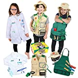 Born Toys Dress Up & Pretend Play 3-in-1 Premium Kids Costumes Set - Washable Kids Dress Up Clothes...