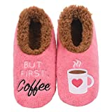 Snoozies Pairables Womens Slippers - House Slippers - But First Coffee - Medium