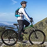 XINQITE 2021 New 24 inch Adults Folding Mountain Bike for Men & Women High-Carbon Steel Mountain Bike Outdoor Exercise Road Bikes with 21 Speed Dual Disc Brakes Full Suspension Non-Slip Gre