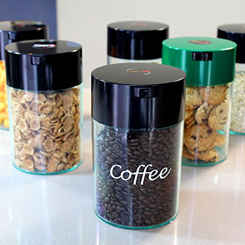 Product Image 4: Coffeevac 1 lb - The Ultimate Vacuum Sealed Coffee Container, Black