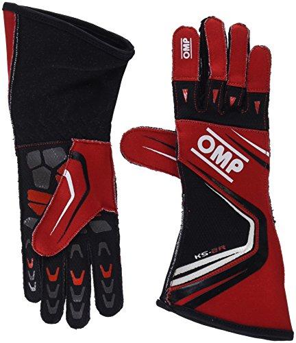 OMP OMPKK02747060004 Guantes, Rojo/Negro, 4
